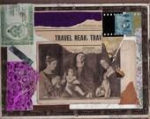 Travel Near...Cigar Box Top Collage