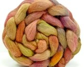 Hand Painted Roving Combed Top Spinning or Felting Fiber Alpaca - 4.1 oz - MING