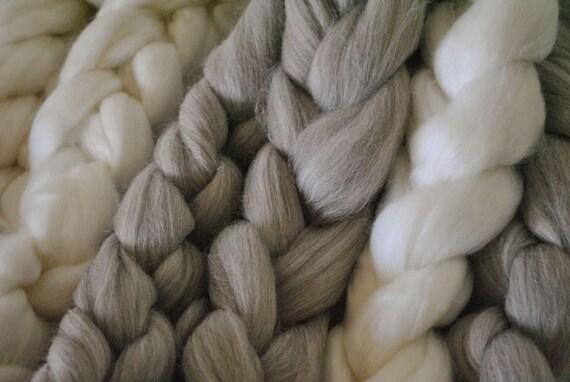 Combed Top Merino Wool Roving Sampler Pack - 4 oz