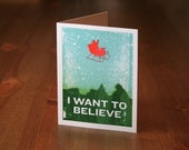 I Want to Believe Christmas Card - set of 5