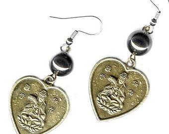 Kuan Yin Heart Earrings gemstone