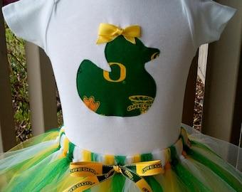 University of Oregon Duck's Fan Girl's Long Sleeve Onesie