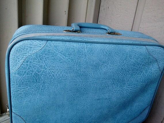 Sky Blue Soft Sided Suitcase