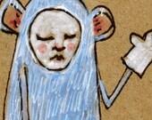 SPEAK FOR ME --ORIGINAL Ink Illustration on Recycled Paper--DeadpanAlley