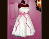 Vintage Inspired Wedding Dress with Bow-Tie Waist - listing is for all sizes