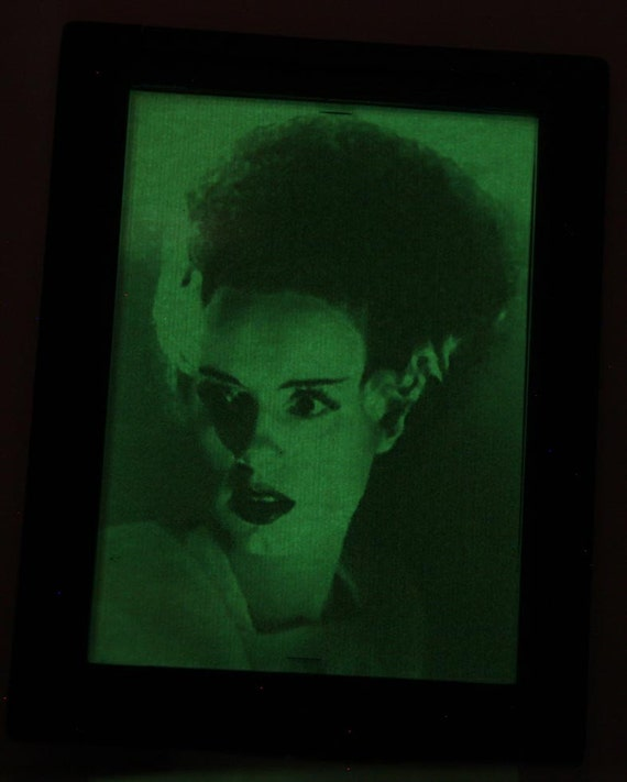 Bride Of Frankenstein Glow In The Dark Compact Mirror Horror Monster
