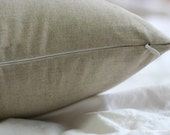 Oatmeal Simple Solid Colored Linen Pillow Case(Cover, Slip)
