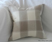 Warm Tone Real Stitched Plaid Pattern Linen Pillow Case(Cover, Slip)