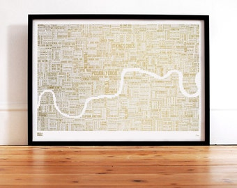 London Limited Edition: Foil Blocked London Type Map