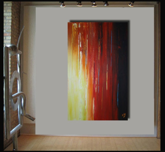 Sale. 56x36 landscape abstract painting on canvas by Elsisy. Title: Long Island