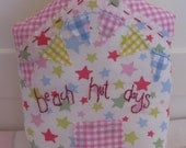 SALE SALE SALE! Beach Hut shape pillow cushion with Cath Kidston Stars Fabric lovely for a baby shower nursery boy or girl