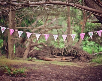 Happy Birthday British Flag Banner Bunting Pink and Green Custom made to order ideal for a Birthday Party or Celebration or Photo prop