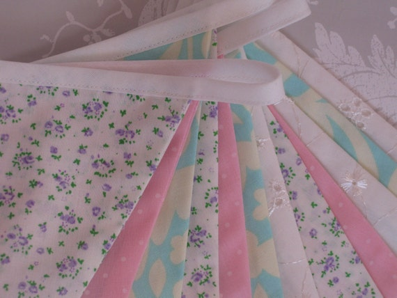 SOFT PASTELS Banner Bunting Fabric Nursery Birthday Party Baby Shower or Celebration or Photo prop can be personalised Ready to ship