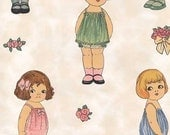 PAPER DOLL FABRIC Large Dolls - By Sherri Marquez,  Windham, Baum Textile