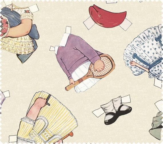 RaRe FiNd Aunt Lindy's CLOTHES - Adorable Clothes to Fit ALL the Paper Dolls, Blue Hills Fabric