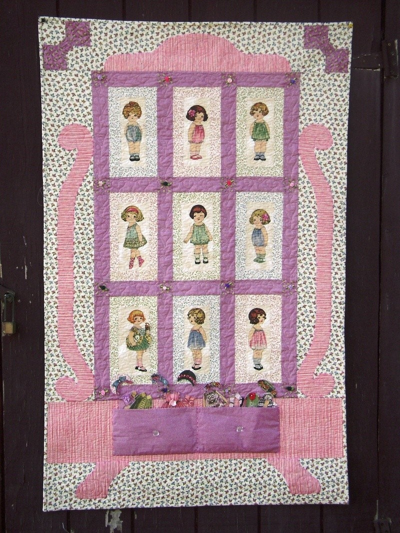 Playtime Windham Paper Doll Quilt Kit 36x 56 Quilt