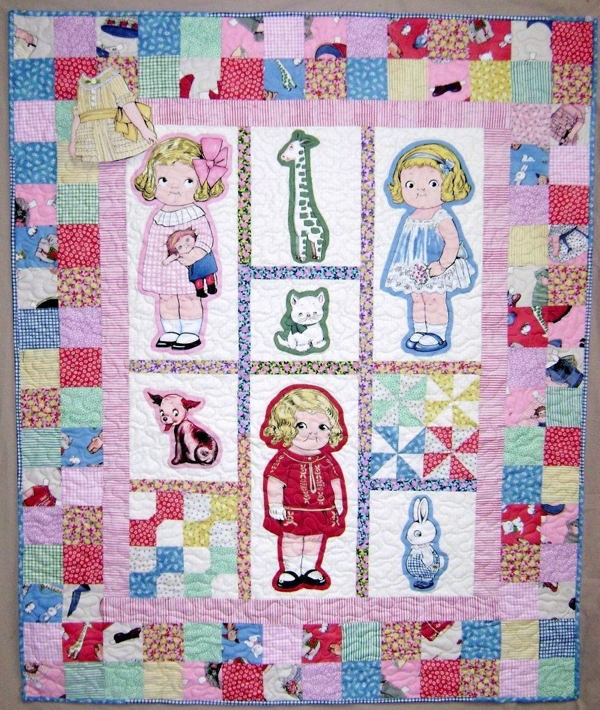 Paper Doll Quilt Pattern Kit: Baby's First Paper Doll Quilt Pattern Aunt Lindy's