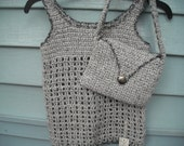 2pc Set, Tank Top Style Pullover and Bag,  Size 5