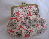red 'forty' clasp purse