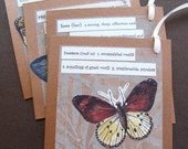 RESERVED- Butterfly Bliss Collage Tags