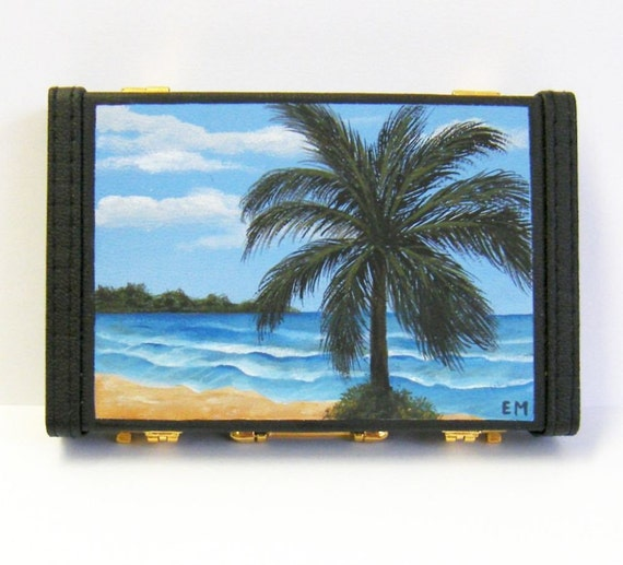 Business Card Holder - Mini Briefcase Style - Heaven In Daylight