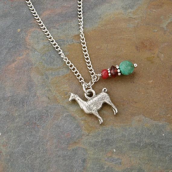 Gemstone and Lama Pendant