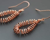 Copper 'Spring to Life' Earrings