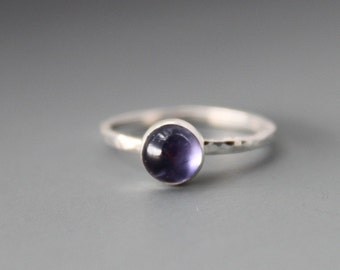 Sterling and Iolite Ring, size 6.75 US / CANADA