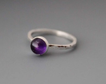 Sterling silver Ring, Amethyst Dream Weaver, Custom Made For You, Made to Order February birthstone