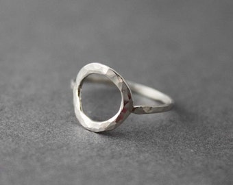 Sterling O Ring, Custom made for you, Circle ring, Made to order