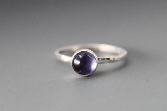 Sterling and Iolite Ring, Custom Made for You, Made to Order