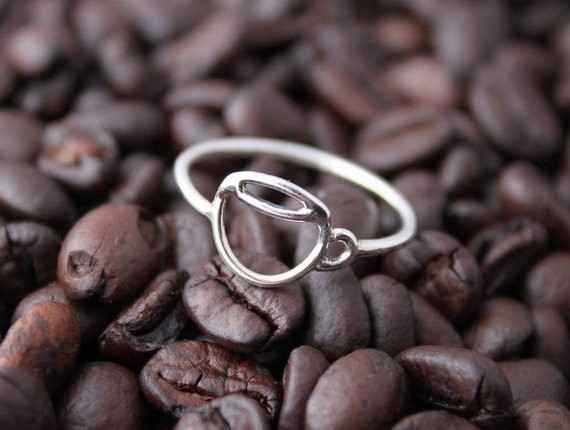 Handmade Sterling ring, Coffee Cup, Size 4.5