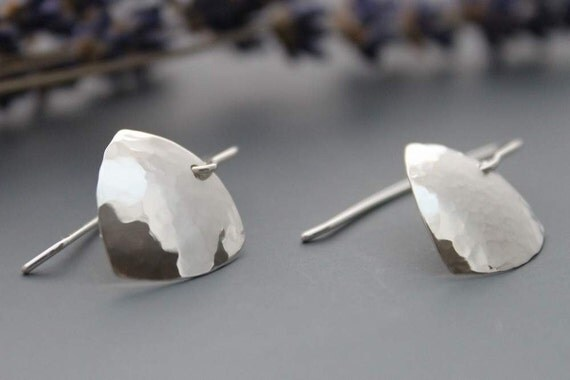 Sterling Hammered Earrings - Protecting Shields