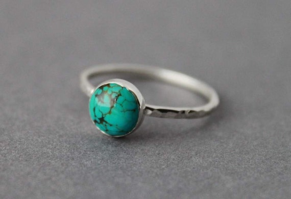 Sterling and Turquoise Ring - Size 9.75