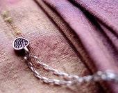 Tiny Mellow Pomegranate necklace