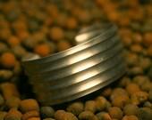 Brushed Aluminum Industrial Metal Cuff - no.1