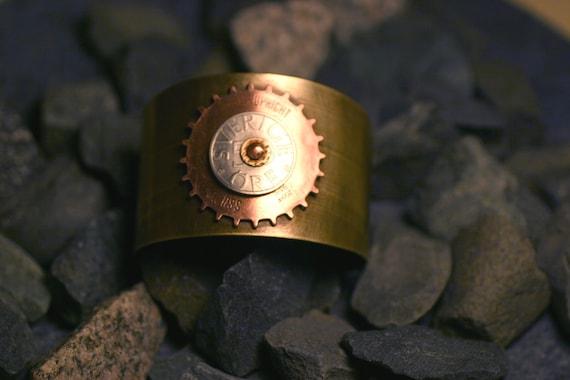 Sunburst Riveted Brass Cuff - Sweden