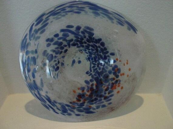 items similar to hand blown glass art wall bowl platter. Black Bedroom Furniture Sets. Home Design Ideas