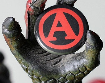 A is for Anarchy 1 inch Button