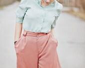 SALE---Vintage Shorts  / Pink Shorts / Pastel Shorts / Vintage High Waist Shorts in Pink