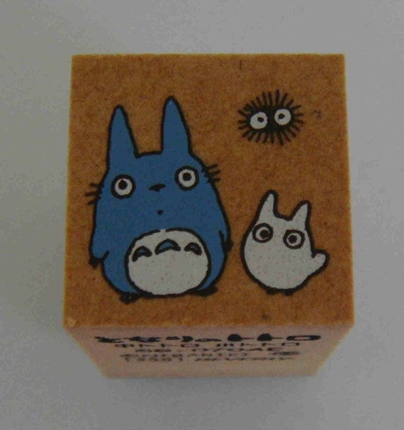 Studio Ghibli My Neighbour / Neighbor Totoro With Baby Totoro And Dust Mite Japanese Rubber Stamp