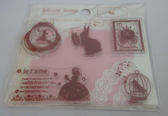 SALE - Fairy Tale Themed Japanese Silicone Stamp Set