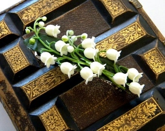 Lily of the Valley french barrette