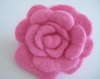 Soft pink rabbit fur flower