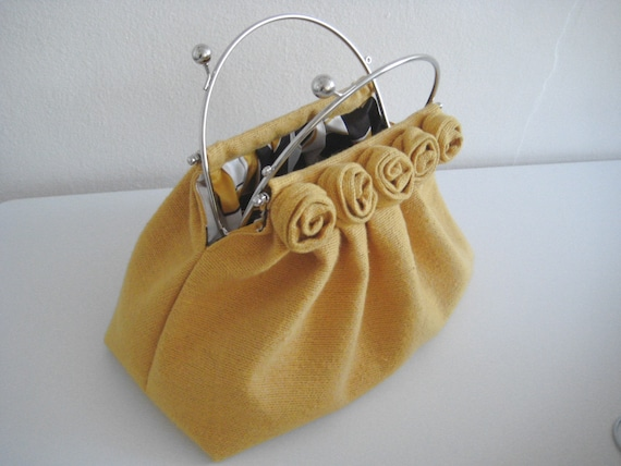 Yellow roses handbag On Sale