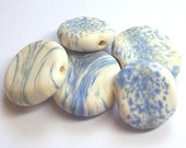 Etched stones beads - Lampwork beads set-