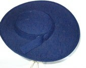 Reserved for OLIVIA Navy Blue Linen Hat