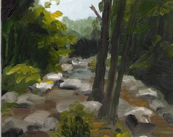 NC Riverbed original painting 5x7