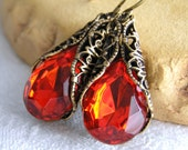 Tangerine Tango Passion Crystal Earrings