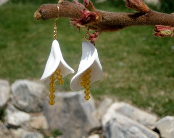 Clay Lily Earrings